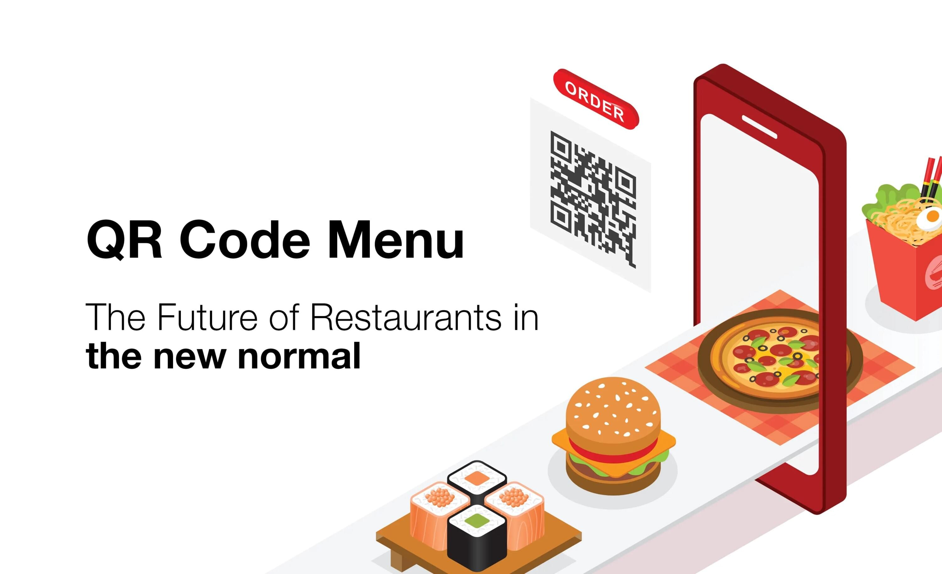 QR code menu, the future of ordering, Touchless browsing and ordering process, the future of restaurants, the future of bars, the future of cafes